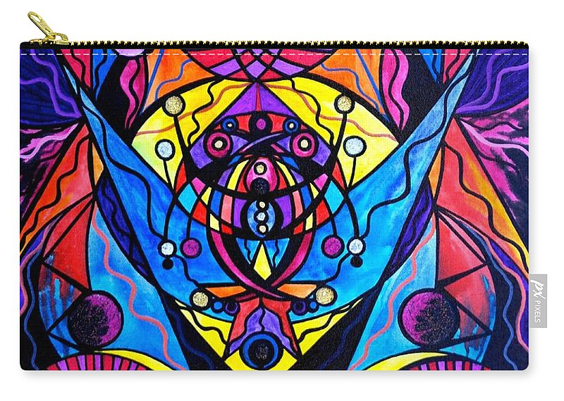 Vibration Carry-all Pouch featuring the painting The Time Wielder by Teal Eye Print Store