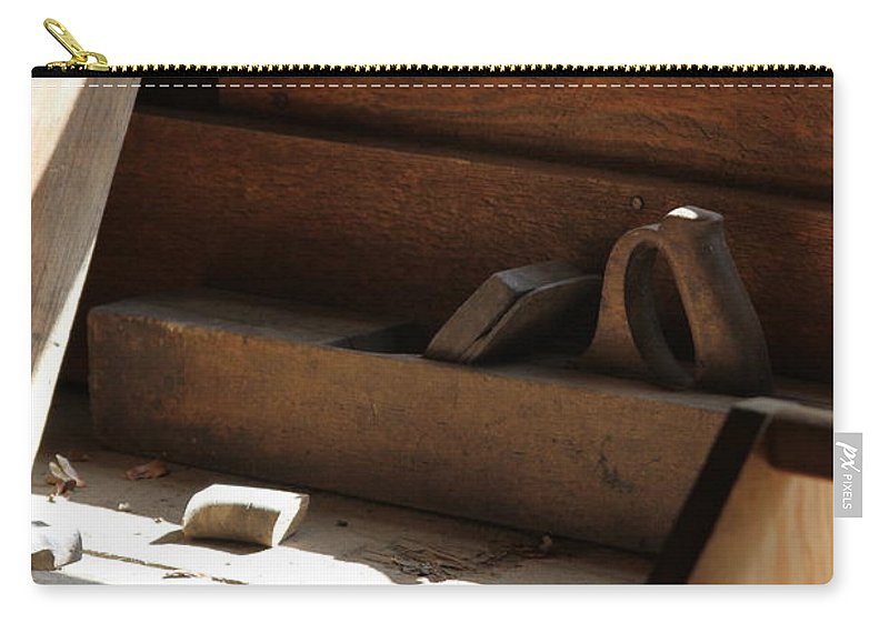 Tools Carry-all Pouch featuring the photograph The Tools by Laddie Halupa
