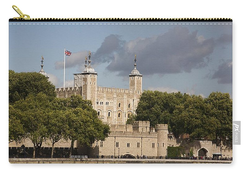 Towers Carry-all Pouch featuring the photograph The Tower Of London. by Christopher Rowlands
