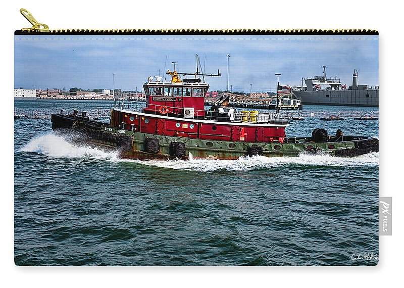 Ship Carry-all Pouch featuring the photograph The Town Point by Christopher Holmes