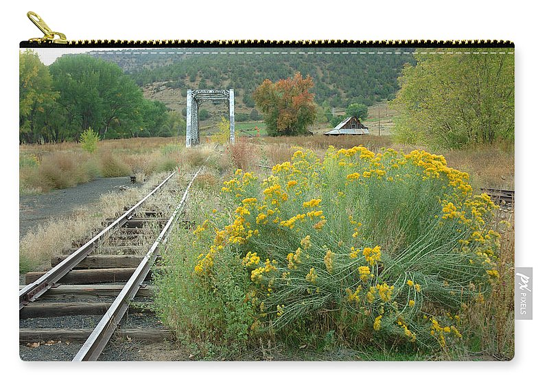 Train Carry-all Pouch featuring the photograph The Tracks At Pagosa Junction by Jerry McElroy