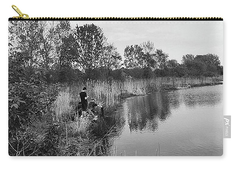 Water Carry-all Pouch featuring the photograph Moving the Water by Frank J Casella
