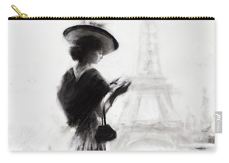 Woman Carry-all Pouch featuring the painting The Traveler by Steve Henderson