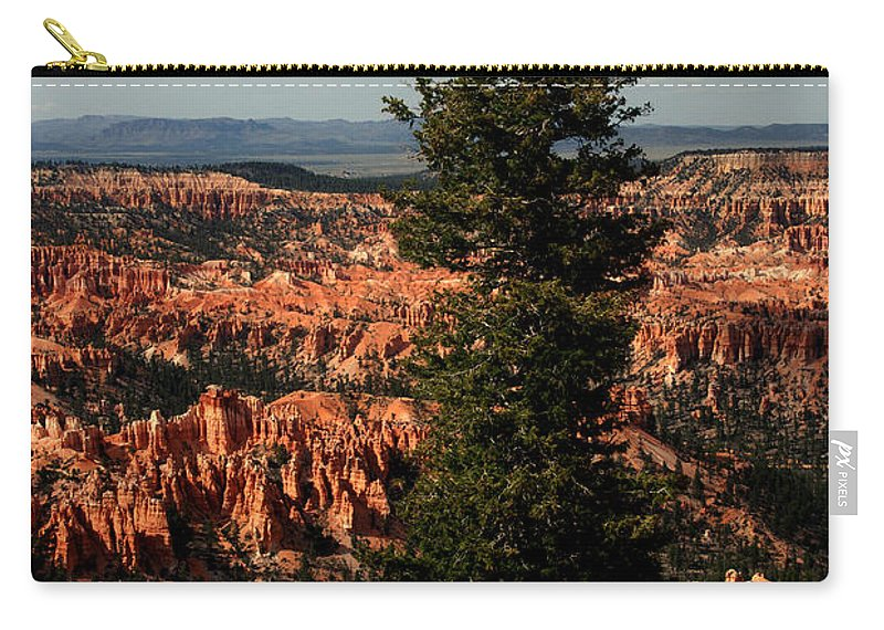 Bryce Canyon Carry-all Pouch featuring the photograph The Tree In Bryce Canyon by Susanne Van Hulst