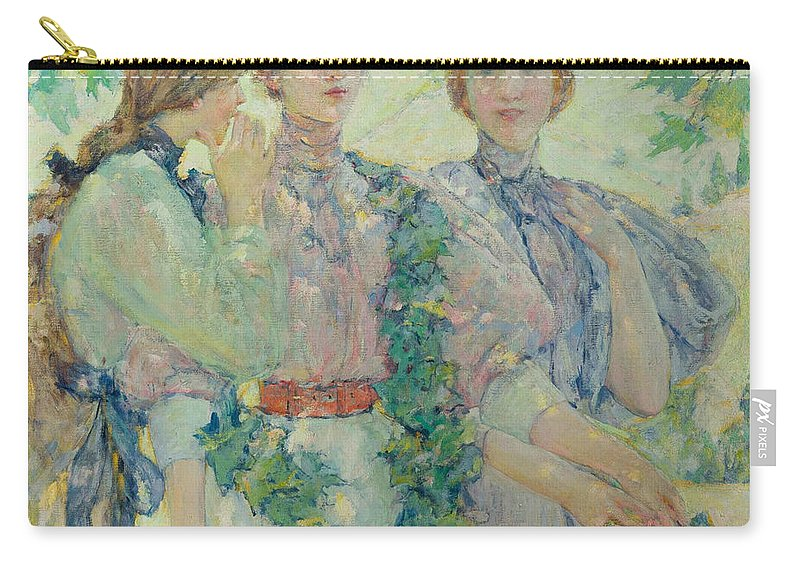 American Artist Carry-all Pouch featuring the painting The Trio by Robert Reid