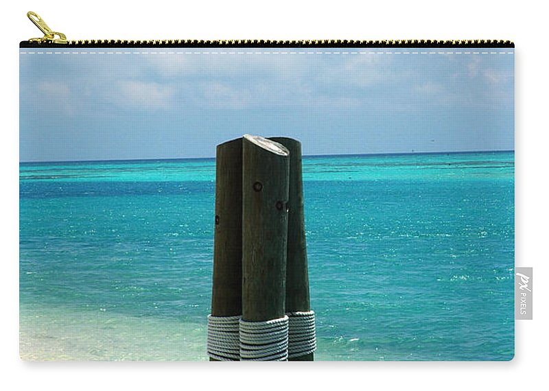Tropical Carry-all Pouch featuring the photograph The Triplets by Susanne Van Hulst