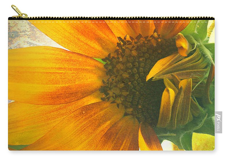 Sunflower Carry-all Pouch featuring the photograph The Truth-teller by Tara Turner