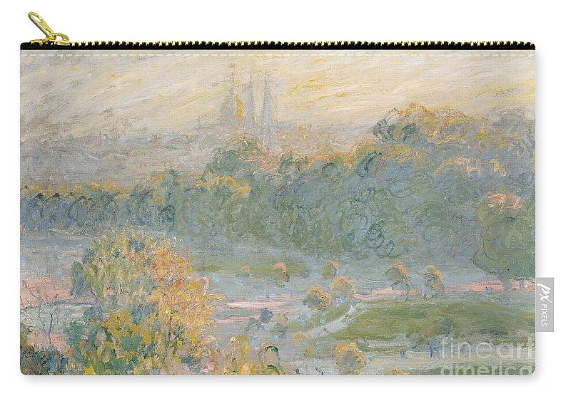 Claude Monet Carry-all Pouch featuring the painting The Tuileries by Claude Monet