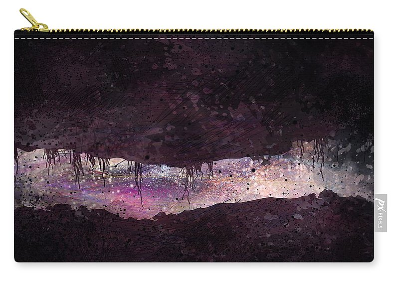 Tunnel Carry-all Pouch featuring the digital art The Tunnel by William Russell Nowicki
