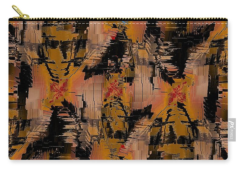 Turmoil Carry-all Pouch featuring the digital art The Turmoil Within by Tim Allen