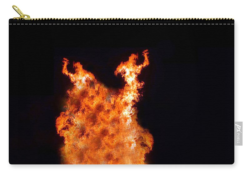 Fire Carry-all Pouch featuring the photograph The Twin by Munir Alawi