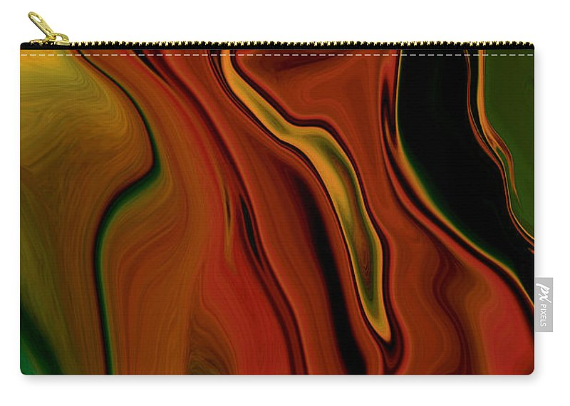 Abstract Carry-all Pouch featuring the digital art The Two by Rabi Khan