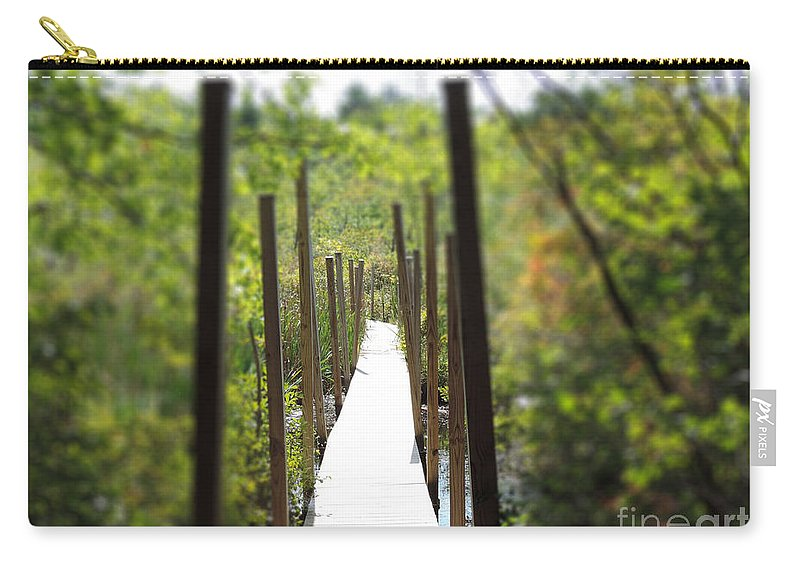 Uncertain Carry-all Pouch featuring the photograph The Uncertain Path by Mim White