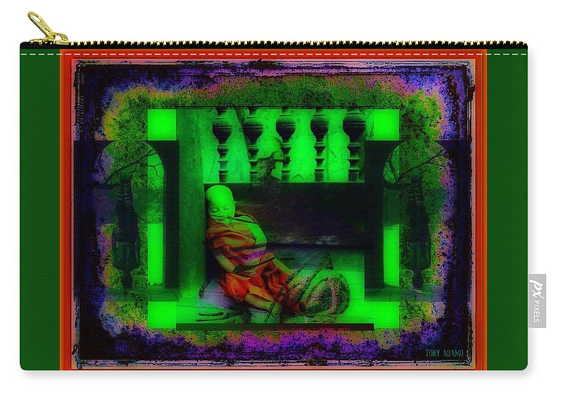 The Understanding Of Dark Matter From Young To Old... Will That Make You A Divine Buddhist? Carry-all Pouch featuring the digital art the understanding of dark matter from young to old... will that make you a divine Buddhist? by Tony Adamo