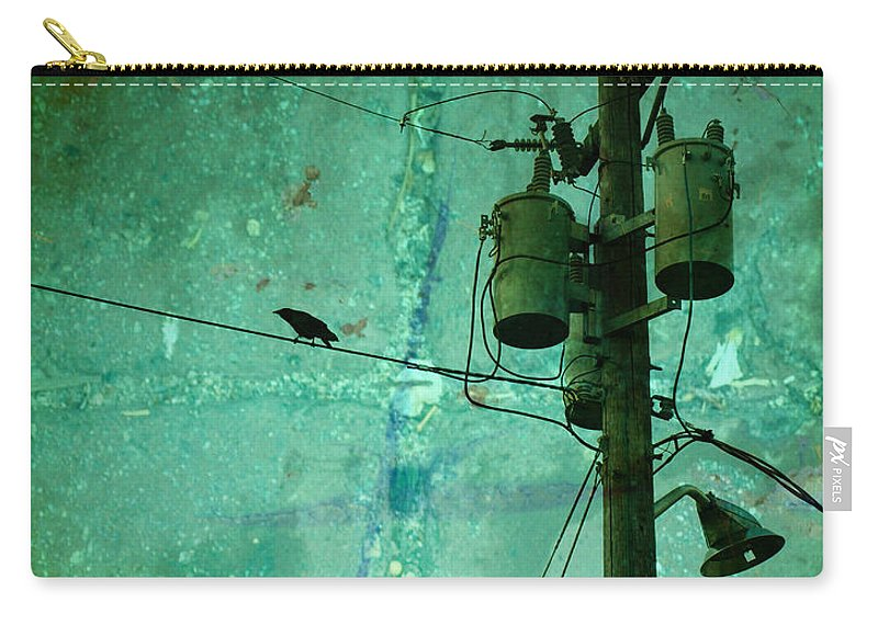 Urban Carry-all Pouch featuring the photograph The Urban Crow by Tara Turner