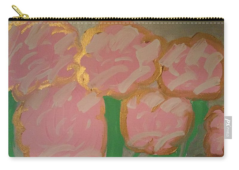 The Valley Carry-all Pouch featuring the painting The Valley by Erin Sullivan