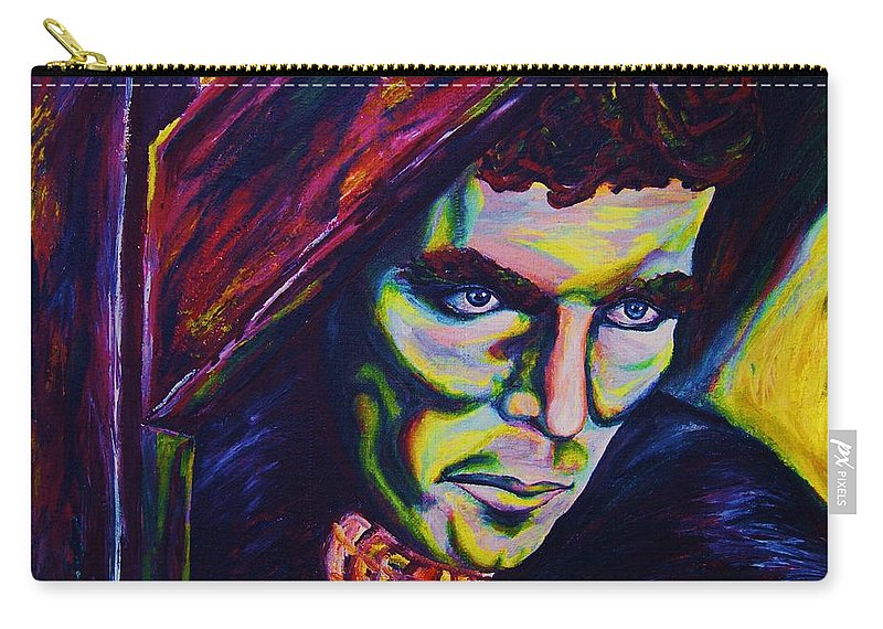 Portraits Carry-all Pouch featuring the painting The Vampire Lestat by Carole Spandau