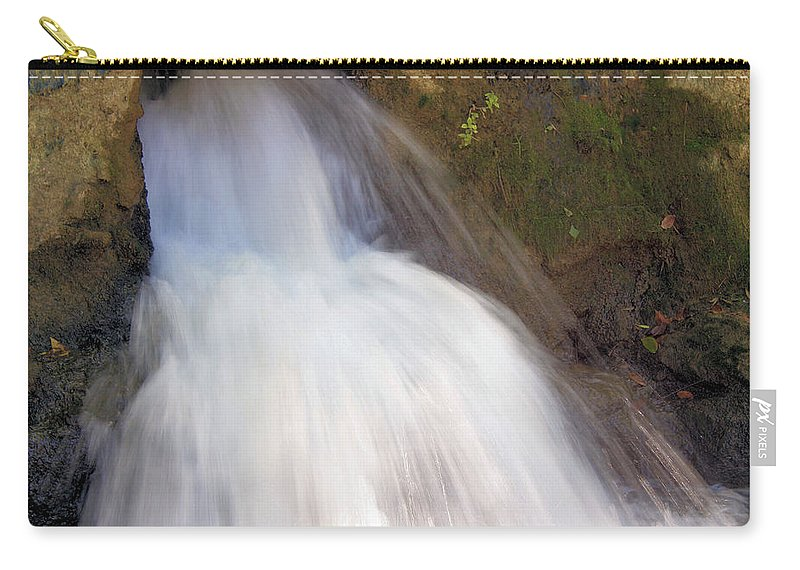 Waterfall Carry-all Pouch featuring the photograph The Veil by Kristin Elmquist
