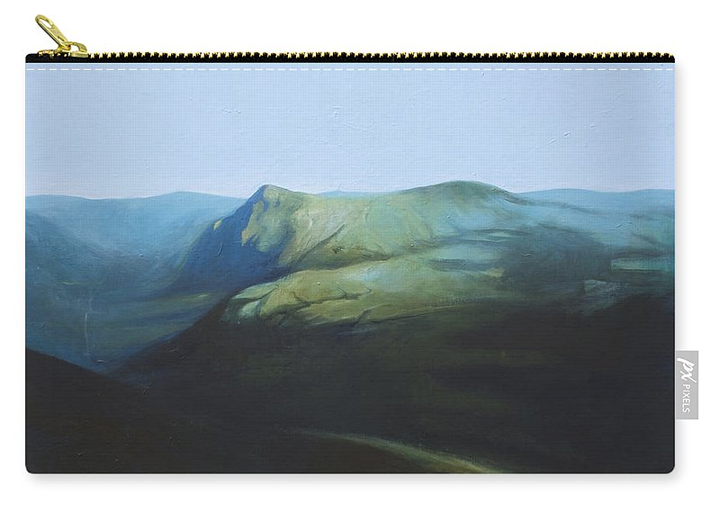 Lin Petershagen Carry-all Pouch featuring the painting The View From Mount Tron by Lin Petershagen