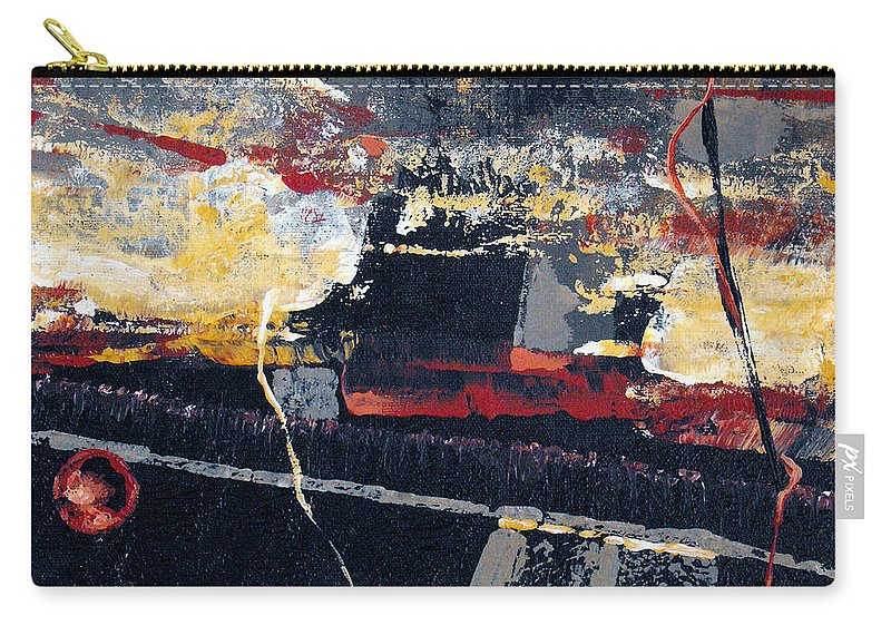 Abstract Carry-all Pouch featuring the painting The View by Ruth Palmer