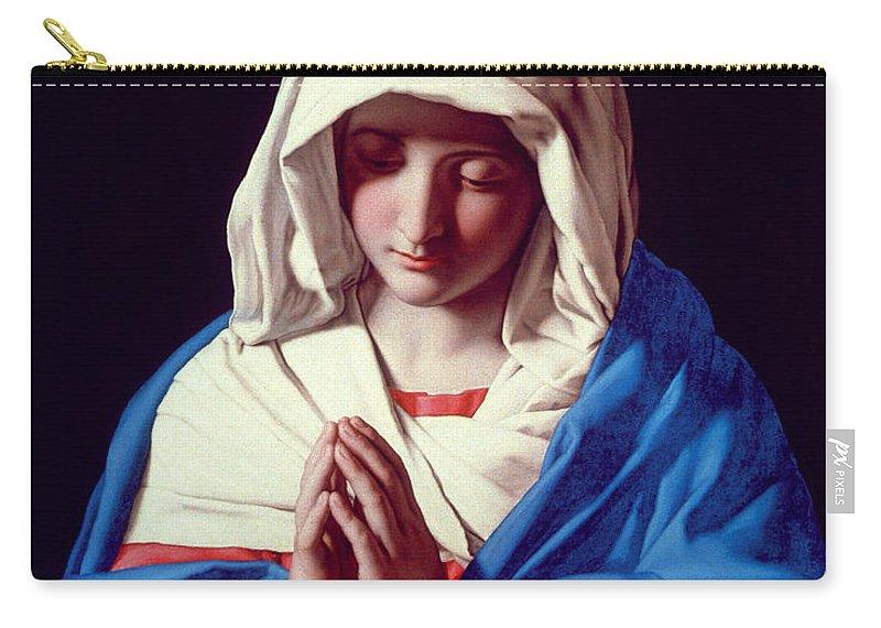 Mary Carry-all Pouch featuring the painting The Virgin In Prayer by Il Sassoferrato