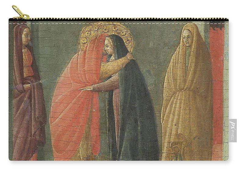 Borghese Di Piero Borghese Carry-all Pouch featuring the painting The Visitation by Borghese Di Piero Borghese