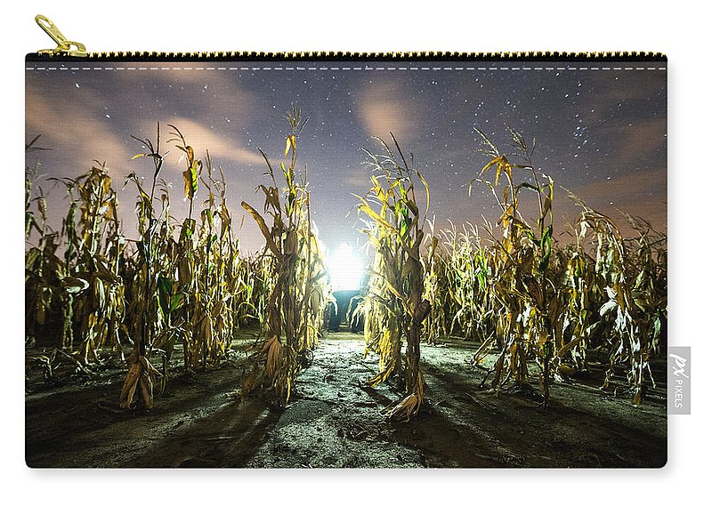 Carry-all Pouch featuring the photograph The Visitor by Aaron J Groen