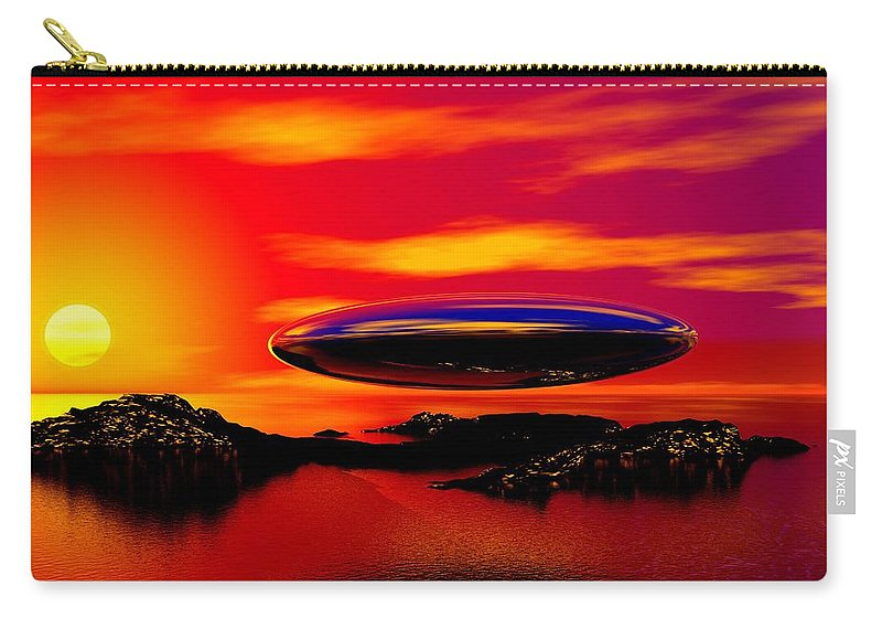 T Carry-all Pouch featuring the digital art The Visitor by David Lane