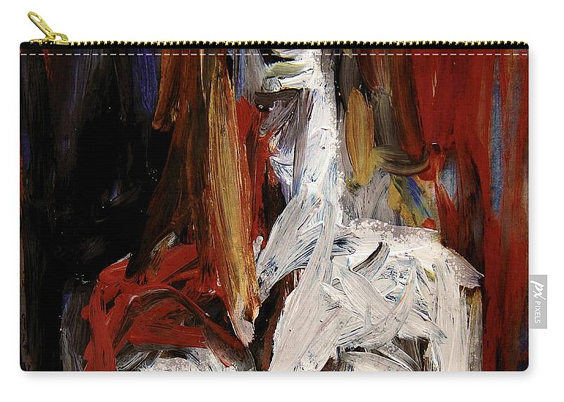 Singer Carry-all Pouch featuring the digital art The Vocalist by Jim Vance