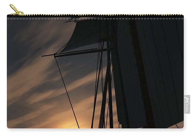 Ships Carry-all Pouch featuring the digital art The Voyage Home by Richard Rizzo