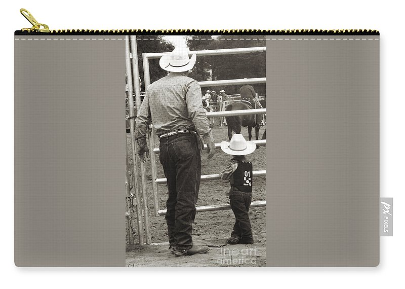 Rodeo Carry-all Pouch featuring the photograph The Wait by September Stone
