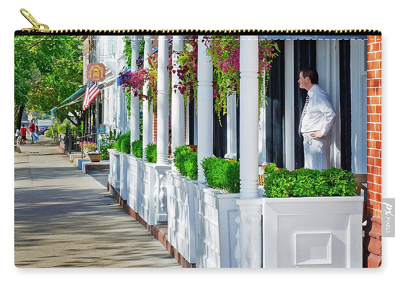 Hotel Carry-all Pouch featuring the photograph The Waiter by Keith Armstrong