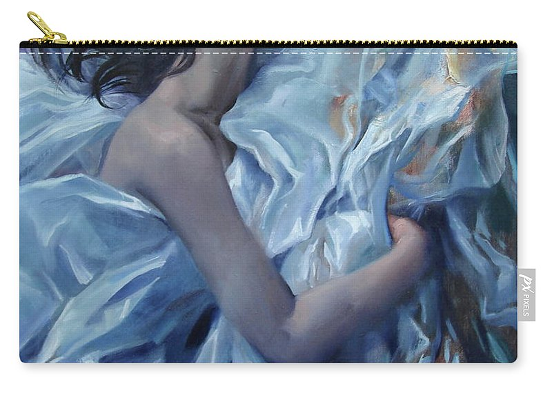 Ignatenko Carry-all Pouch featuring the painting The waiting for the spring by Sergey Ignatenko