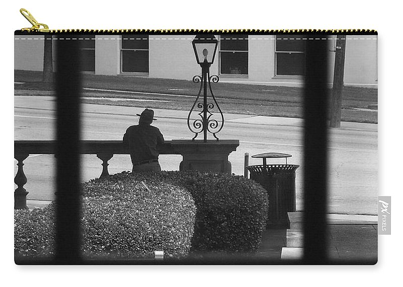 Black And White Carry-all Pouch featuring the photograph The Waiting Room by Robert Meanor