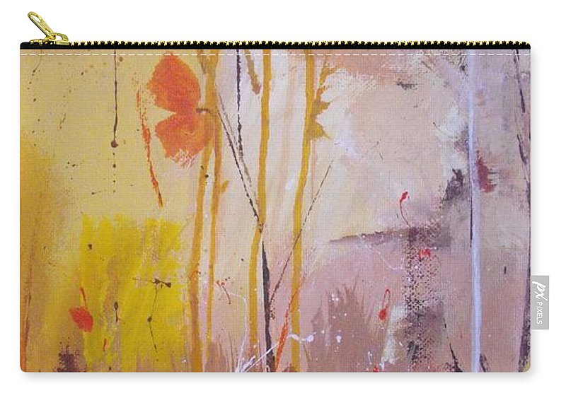 Abstract Carry-all Pouch featuring the painting The Wallflowers by Ruth Palmer