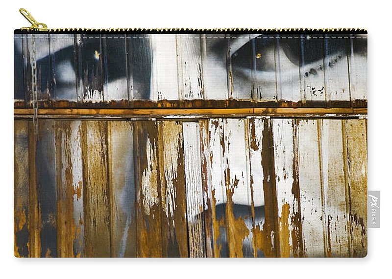 Escondido Carry-all Pouch featuring the photograph The Walls Have Eyes by Skip Hunt
