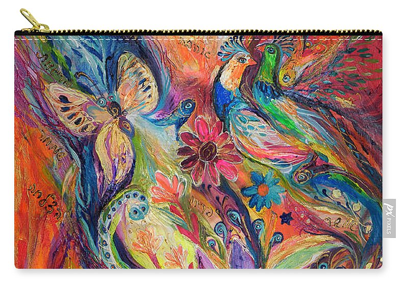 Original Carry-all Pouch featuring the painting The Walls Of Safed by Elena Kotliarker