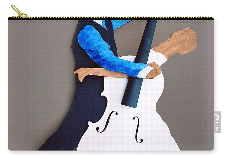 Dance Carry-all Pouch featuring the sculpture The Waltz by Steve Karol