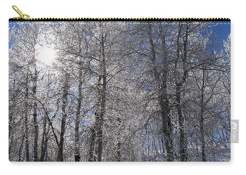 Frost Carry-all Pouch featuring the photograph The Warmth Of The Sun by DeeLon Merritt