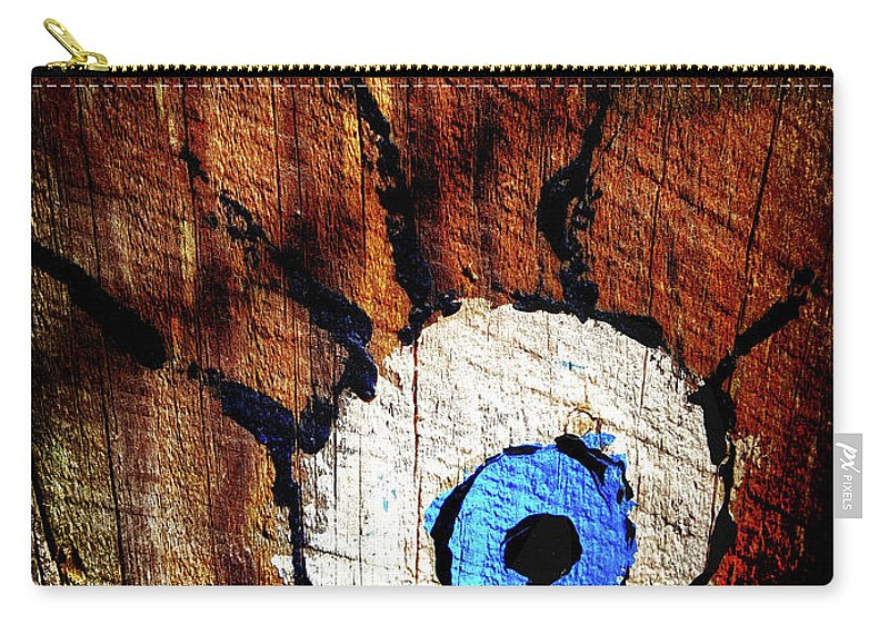 Creepy Carry-all Pouch featuring the photograph The Watcher by Aaron James
