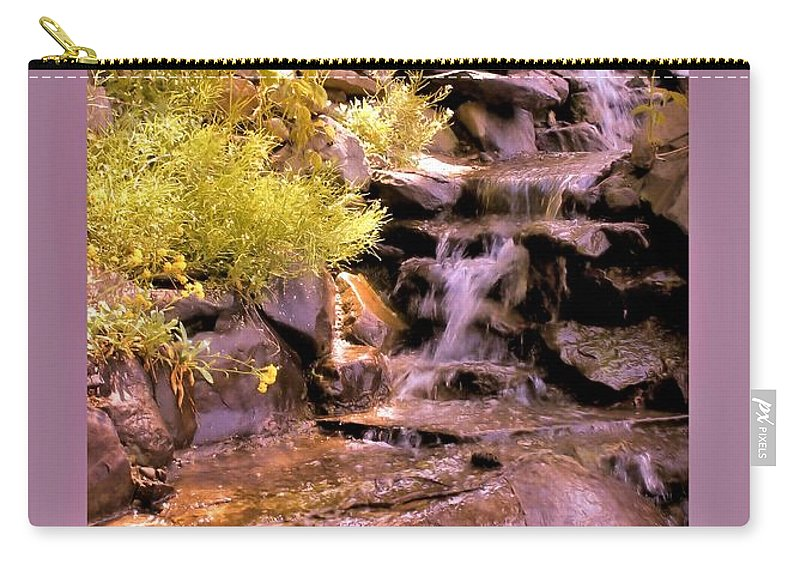 Wall Art Carry-all Pouch featuring the photograph The Water Falls by Myrna Migala
