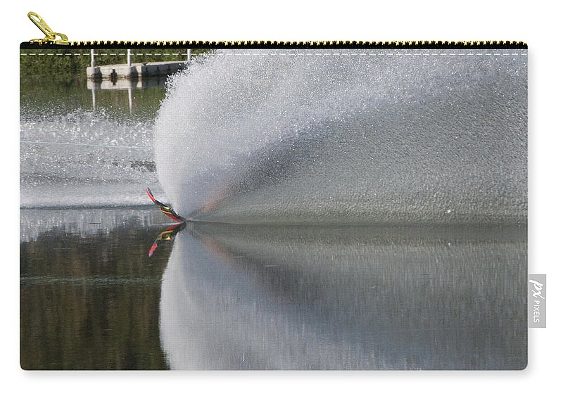Waterskiing Carry-all Pouch featuring the photograph The Water Skier by Steven Natanson