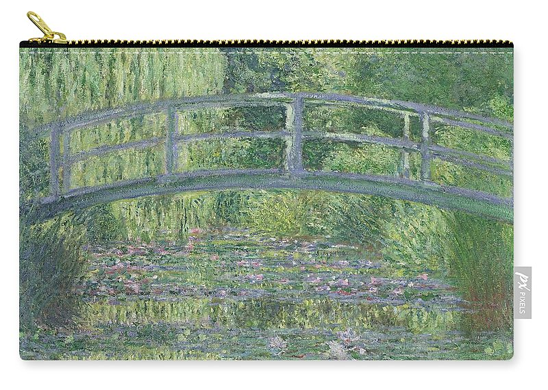 The Carry-all Pouch featuring the painting The Waterlily Pond by Claude Monet