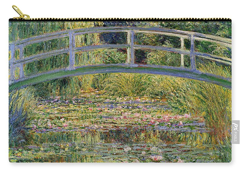 The Carry-all Pouch featuring the painting The Waterlily Pond with the Japanese Bridge by Claude Monet