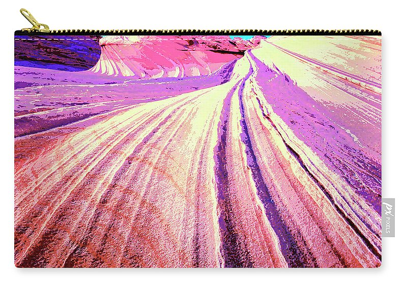 Rock Formation Carry-all Pouch featuring the mixed media The Wave by Dominic Piperata