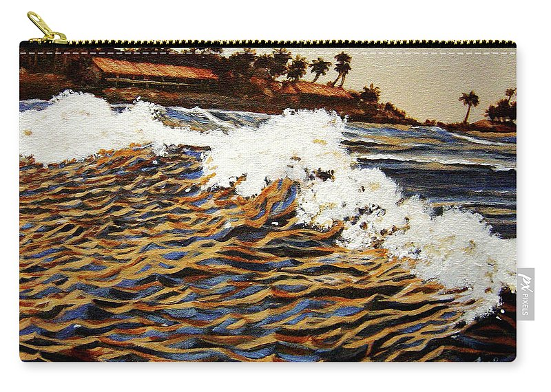 Wave Carry-all Pouch featuring the painting The Wave by Usha Shantharam