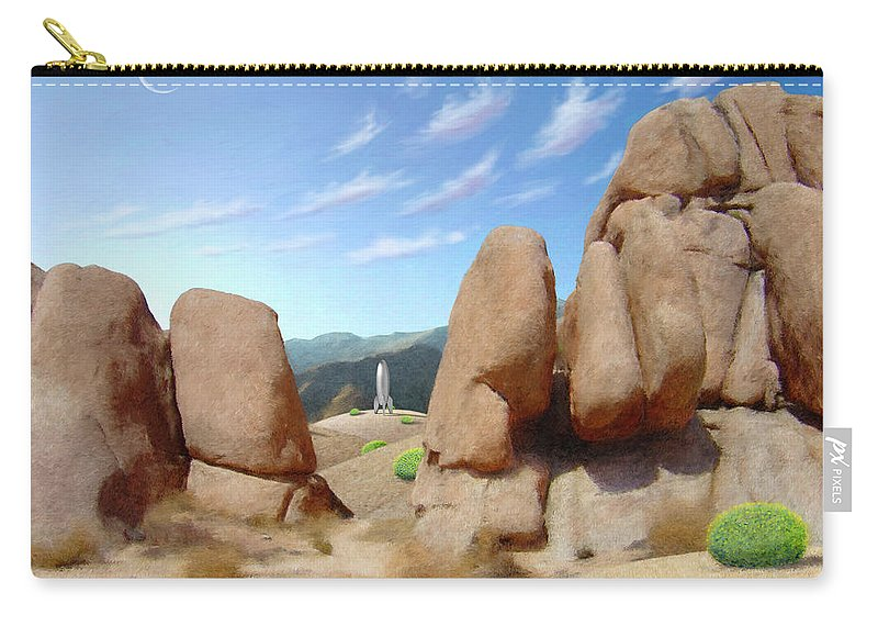 Desert Carry-all Pouch featuring the digital art The Way Home by Snake Jagger