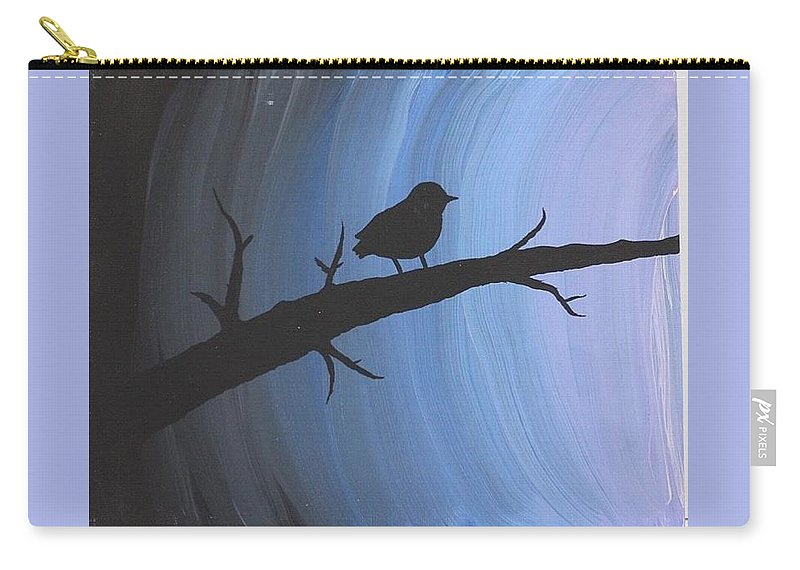 Bird Carry-all Pouch featuring the painting The Way Of Life by Ruby Palmer
