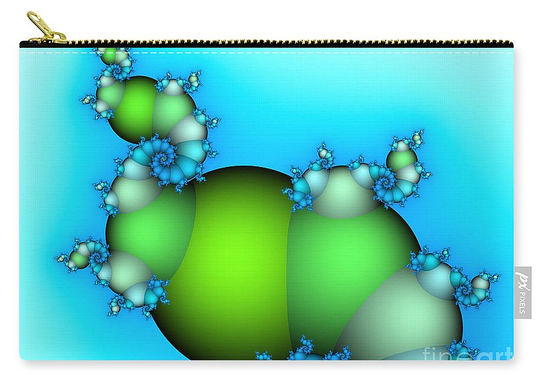 Fractal Carry-all Pouch featuring the digital art The Way Upwards by Jutta Maria Pusl