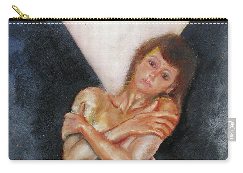 Females Carry-all Pouch featuring the painting The Way You Make Me Feel by Tom Conway
